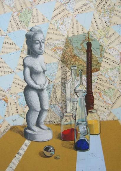 Composizione-e-maternità-2013-tempera-e-collage-su-tavola-cm.-50x70..jpg