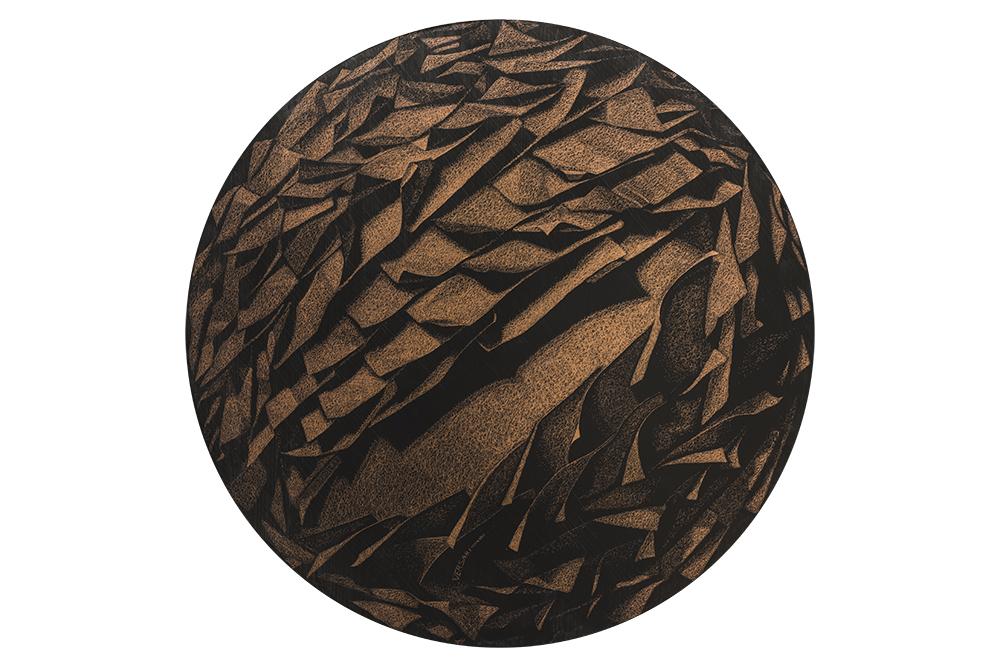 Convessità-di-una-sfera-pigmento-su-disco-di-rame-diametro-98-2018.jpg