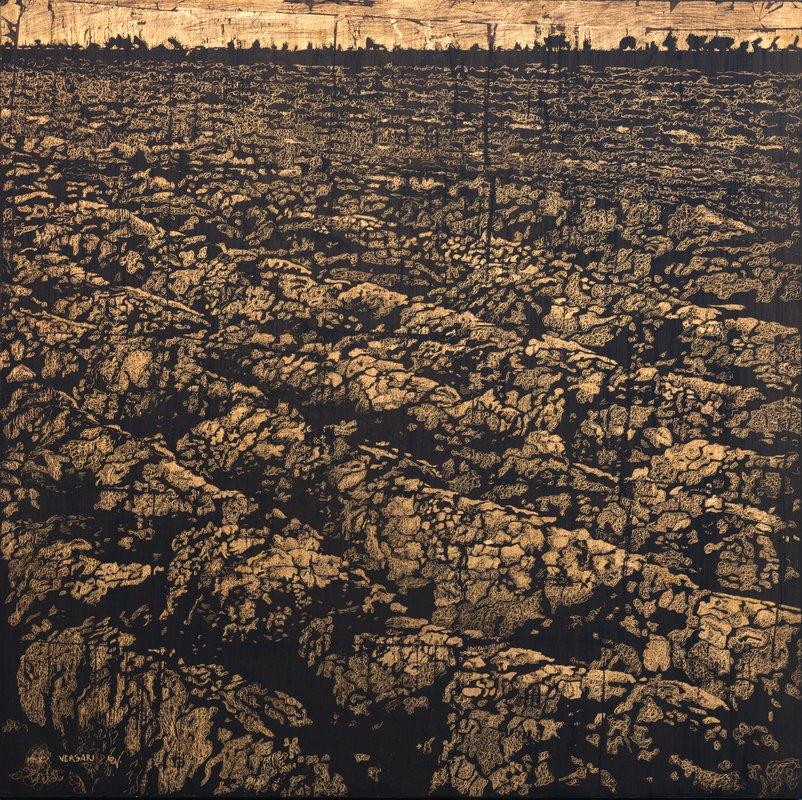 Il-senso-dellordine-zolle-metallo-e-pigmento-su-tavola-cm.-70x70-2015.jpg