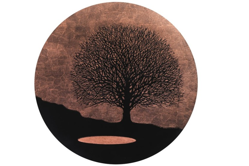Lalbero-e-il-lago-pigmento-su-disco-di-rame-diametro-100-2018.jpg