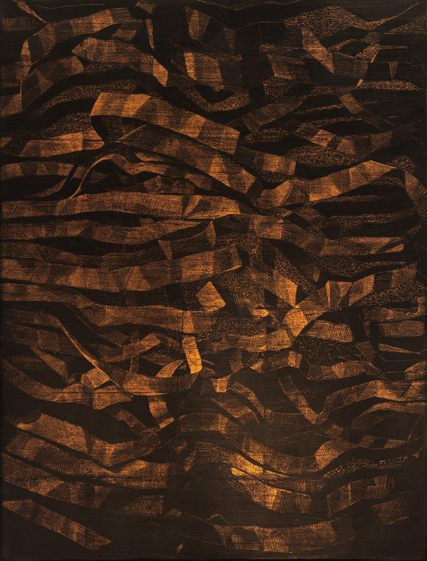 Stringhe-metallo-e-pigmento-su-tavola-cm-100x76-2017.jpg