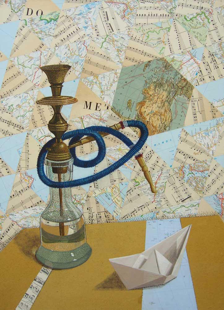 La-barchetta-nel-mediterraneo-tempera-e-collage-su-tavola-cm.-50x70..jpg
